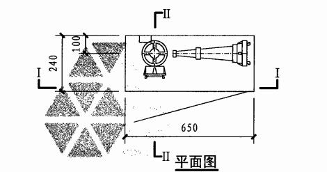 乙型单栓室内消火栓箱(平面图)