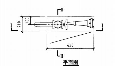 丙型单栓室内消火栓箱(平面图)