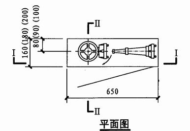 薄型单栓室内消火栓箱(平面图)