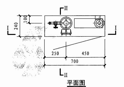 甲型单栓带消防软管卷盘消火栓箱(平面图)