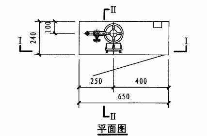 乙型单栓带消防软管卷盘消火栓箱(平面图)