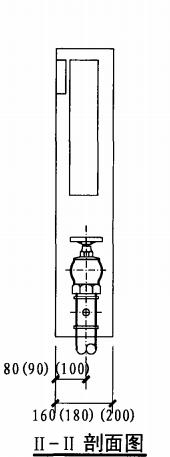 薄型单栓带消防软管卷盘消火栓箱(II-II剖面图)