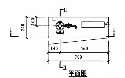 单栓带轻便消防水龙室内消火栓箱(平面图)