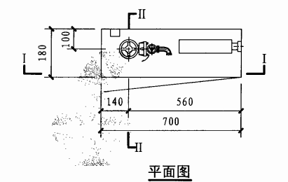 薄型单栓带轻便消防水龙消火栓箱(平面图)