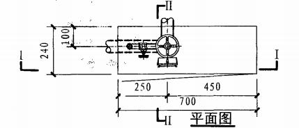 乙型单栓带灭火器箱组合式消防柜(平面图)
