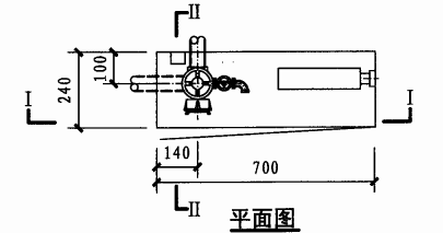 单栓带轻便消防水龙组合式消防柜(平面图)