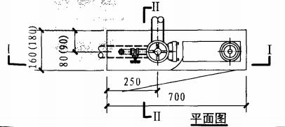 薄型单栓带消防软管卷盘组合式消防柜(平面图)
