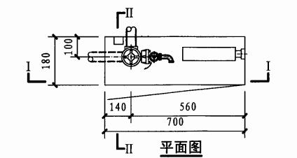 薄型单栓带轻便消防水龙组合式消防柜(平面图)