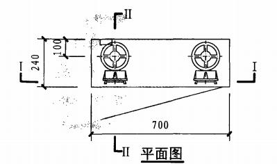 甲型双栓室内消火栓箱(平面图)
