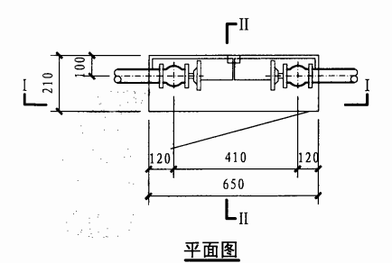 丙型双栓室内消火栓箱(平面图)