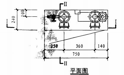 双栓带消防软管卷盘消火栓箱(平面图)