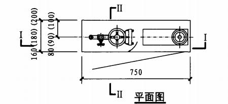 薄型双栓带消防软管卷盘消火栓箱(平面图)