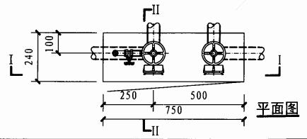 乙型双栓带灭火器箱组合式消防柜(平面图)