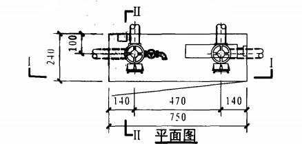 双栓带轻便消防水龙组合式消防柜(平面图)