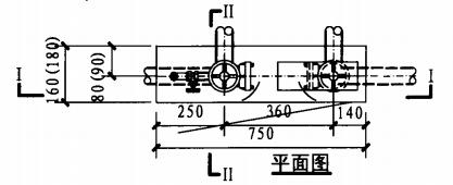 薄型双栓带消防软管卷盘组合式消防柜(平面图)