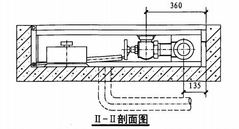地下消火栓箱(II-II剖面图)