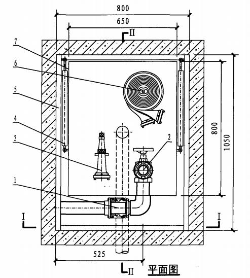 地下消火栓箱(平面图)
