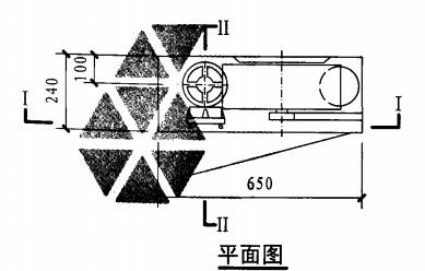 甲型带应急照明单栓室内消火栓箱(平面图)
