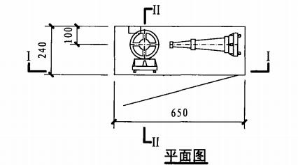 乙型带应急照明单栓室内消火栓箱(平面图)