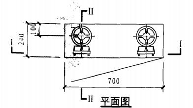 甲型带应急照明双栓室内消火栓箱(平面图)