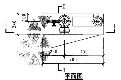 单栓带应急照明配消防软管卷盘消火栓箱(平面图)
