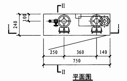双栓带应急照明配消防软管卷盘消火栓箱(平面图)
