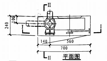 甲型带应急照明及灭火器箱组合式消防柜(平面图)