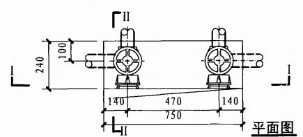 乙型带应急照明及灭火器箱组合式消防柜(平面图)
