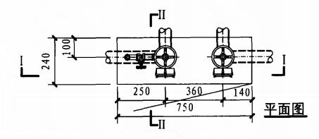 丁型带应急照明及灭火器箱组合式消防柜(平面图)