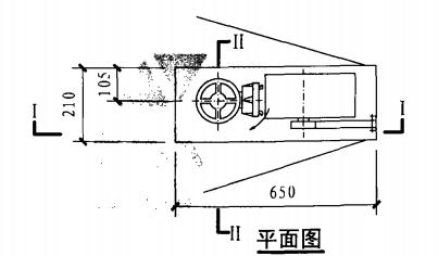 单栓前后开门消火栓箱(平面图)