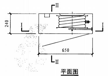 自救式消防软管卷盘箱(平面图)