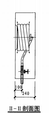 自救式消防软管卷盘箱(II-II剖面图)