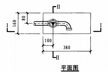 轻便消防水龙箱(住宅)(平面图)