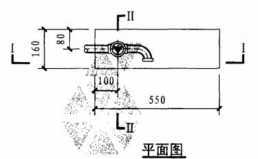 轻便消防水龙箱(平面图)