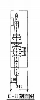 试验用消火栓箱(II-II剖面图)