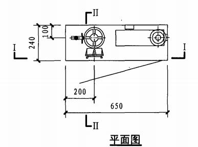 试验用消火栓箱(平面图)
