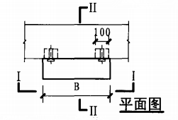 明装消火栓箱砖墙、混凝土墙上安装固定图(平面图)