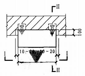 半暗装消火栓箱砖墙上安装固定图(平面图)
