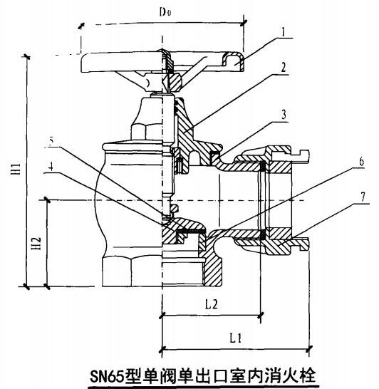 SN65型单阀单出口室内消火栓