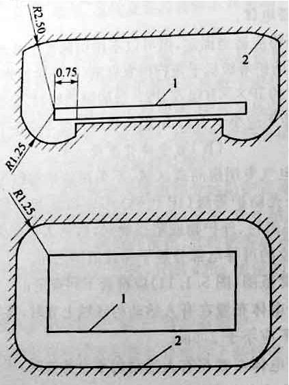 图5.1.11 伸臂范围(m)