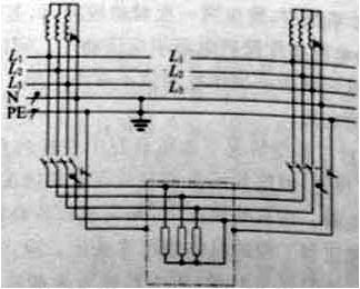 图2 在TN-S系统中,采用具有断开中性极的开关可避免产生杂散电流