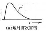 图F.0.1-1 闪电中可能出现的三种雷击(a)短时首次雷击