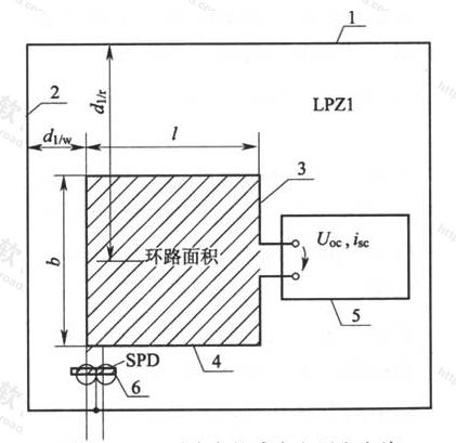 图G.0.1 环路中的感应电压和电流
