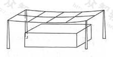 图1 架空接闪网的例子