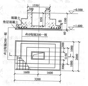图13 一车间的柱子基础结构图