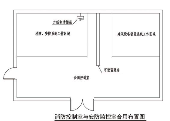 消防控制室与安防监控室合用布置图