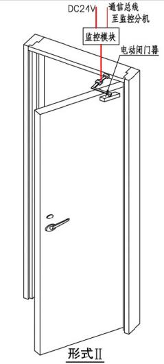 单开防火门监控系统安装图示(形式II)