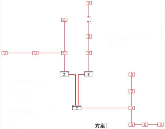 区域显示器(火灾显示盘)的设置(方案I)
