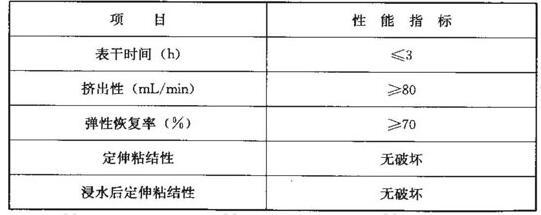 硅酮建筑密封胶(F类)的性能指标