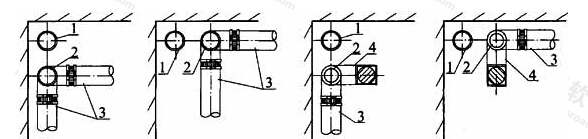 图3.3.4 立管布置方位示意